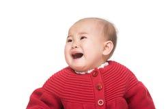 Gridare della neonata dell'Asia fotografia stock