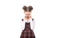 Gridare della ragazza della scuola Fotografie Stock