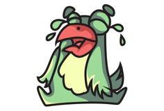 Gridare di emoji dell'uccello illustrazione vettoriale
