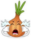 Gridare il personaggio dei cartoni animati della cipolla illustrazione di stock