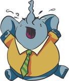 Gridare l'elefante del bambino Fotografia Stock Libera da Diritti