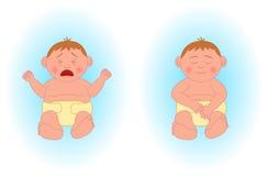 Gridare neonato, neonato addormentato Illustrazione di Stock