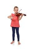 Gridare ragazza con il violino Immagini Stock Libere da Diritti