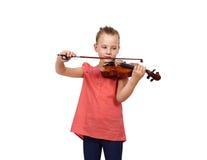 Gridare ragazza con un violino Fotografia Stock