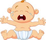 Gridare sveglio del bambino isolato su fondo bianco illustrazione di stock