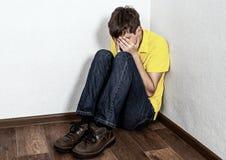 Gridare triste dell'adolescente immagine stock libera da diritti