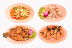 Gridded food thai style Royalty Free Stock Photos