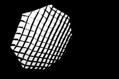 A gridded octabox strobe light Stock Photography