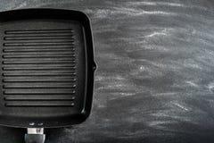 Griddle литого железа стоковое изображение