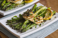 Griddled asparagus Royalty Free Stock Image