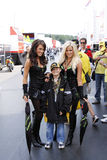 Gridgirls with young boy Royalty Free Stock Image