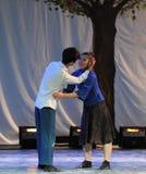 Gridi e sparga il partito strappo-concentrico amaro di concerto di graduazione della classe di dancing tree-2011 Immagini Stock