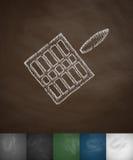 Gridiron icon. Hand drawn vector illustration. Chalkboard Design Stock Images
