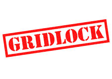GRIDLOCK Royalty Free Stock Image