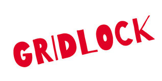 Gridlock rubber stamp. Grunge design with dust scratches. Effects can be easily removed for a clean, crisp look. Color is easily changed Royalty Free Stock Photography