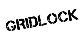 Gridlock rubber stamp. Grunge design with dust scratches. Effects can be easily removed for a clean, crisp look. Color is easily changed Stock Image