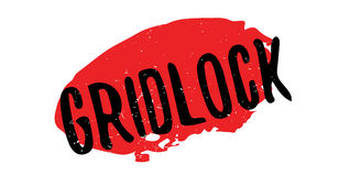 Gridlock rubber stamp. Grunge design with dust scratches. Effects can be easily removed for a clean, crisp look. Color is easily changed Royalty Free Stock Photo