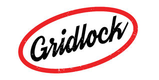 Gridlock rubber stamp. Grunge design with dust scratches. Effects can be easily removed for a clean, crisp look. Color is easily changed Royalty Free Stock Images