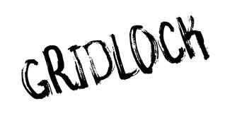 Gridlock rubber stamp. Grunge design with dust scratches. Effects can be easily removed for a clean, crisp look. Color is easily changed Stock Photography