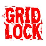 Gridlock stamp typographic stamp. Gridlock stamp. Typographic sign, stamp or logo Royalty Free Stock Images