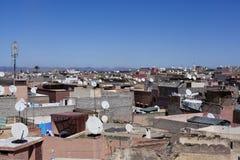 Grido del tetto di Marrakesh fotografia stock libera da diritti