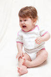 Grido della bambina Fotografie Stock