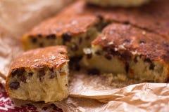 Grieß-Kuchen mit Rosinen Lizenzfreies Stockbild