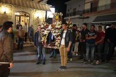 Grieche-Ostern-Prozession lizenzfreie stockfotografie