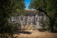 Grieche-Ruinen Stockfotos