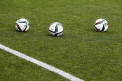Grieche Superleague-Ball auf dem Feld Lizenzfreies Stockbild