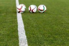 Grieche Superleague-Ball auf dem Feld Lizenzfreie Stockbilder