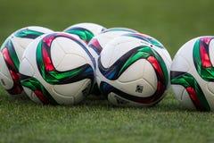 Grieche Superleague-Ball auf dem Feld Stockfoto