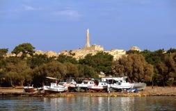 Griechenland alt und neu Stockbilder