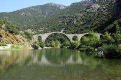 Griechenland, alte Brücke Stockfoto
