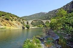 Griechenland, alte Brücke Lizenzfreies Stockfoto