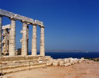 Griechenland, alter Tempel Stockfotografie