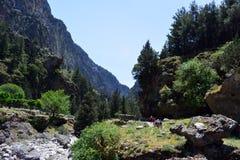 Griechenland-Ansicht Samaria Gorges Stockfotografie