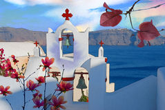 Griechenland-Aquarell papierlos Lizenzfreies Stockfoto