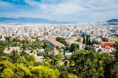 Griechenland, Athen im August 2016 die Akropolis von Athen, alte Zitadelle extrem gelegen auf einem Felsgelände über der Stadt vo lizenzfreies stockfoto