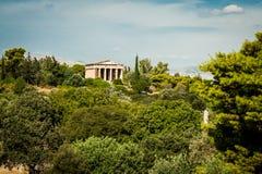 Griechenland, Athen im August 2016 die Akropolis von Athen, alte Zitadelle extrem gelegen auf einem Felsgelände über der Stadt vo stockfotografie
