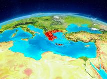 Griechenland auf Erde Lizenzfreie Stockbilder