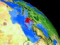 Griechenland auf Planet Erde lizenzfreie abbildung