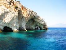 Griechenland - blaue Höhlen lizenzfreie stockfotos