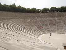 Griechenland, das alte Theater bei Epidavros lizenzfreie stockbilder