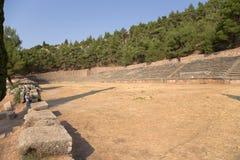 Griechenland. Das Stadion in Delphi (5. Jahrhundert BC) Lizenzfreie Stockfotos