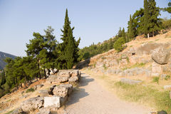 Griechenland. Delphi. Alte Ruinen Lizenzfreies Stockbild