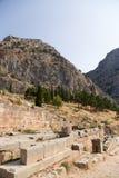 Griechenland. Delphi. Alte Ruinen Stockfotos
