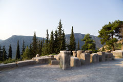 Griechenland. Delphi. Ruinen Lizenzfreie Stockfotos