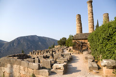 Griechenland. Delphi. Ruinen Lizenzfreie Stockfotografie