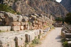 Griechenland. Delphi. Ruinen Stockbild